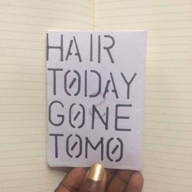 Afro Hair Zine Back