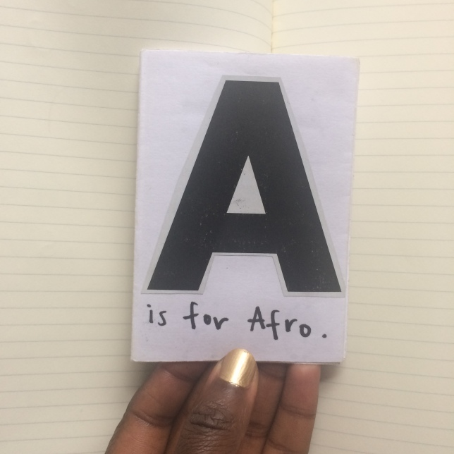Afro Hair Zine Front